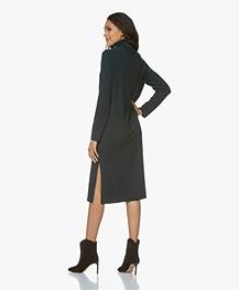 Repeat Pure Cashmere Turtleneck Dress - Algae
