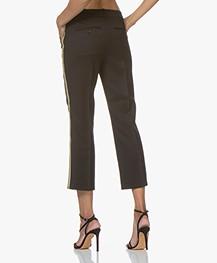 Zadig & Voltaire Posh Militaire Wool Pants with Lurex - Black