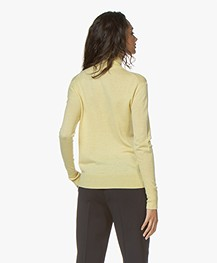 Filippa K Silk Mix Roller Neck Sweater - Wax
