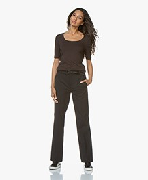 Drykorn Count Loose-Fit Twill Pants - Black