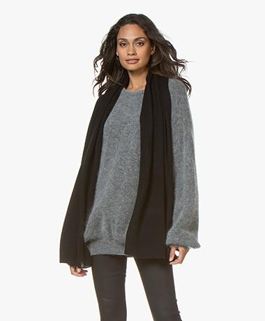 Repeat Basic Cashmere Sjaal - Zwart