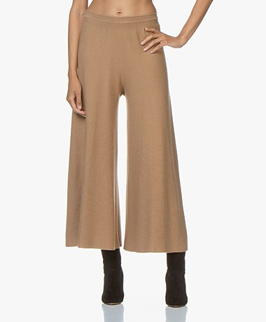 Drykorn Height Cashmere Mix Wide Pants - Camel