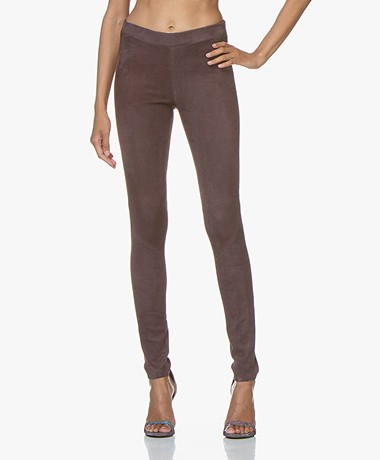 Repeat Luxury Suede Slim-fit Pants - Acai