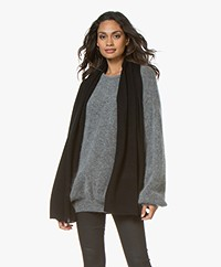 Repeat Basic Cashmere Sjaal - Zwart