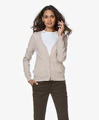 Repeat Cashmere V-neck Cardigan - Beige