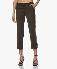 Zadig & Voltaire Posh Militaire Wool Pants with Lurex - Black