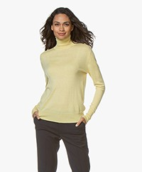 Filippa K Silk Mix Roller Neck Sweater - Wax