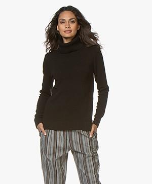 Belluna Robin Fine Knit Sweater with Cashmere - Black