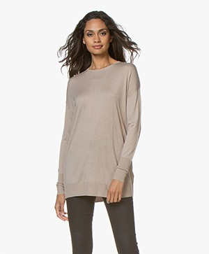 Filippa K Silky Fine Knit Sweater - Light Taupe