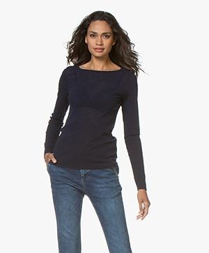 LaSalle Mesh Long Sleeve T-shirt - Navy