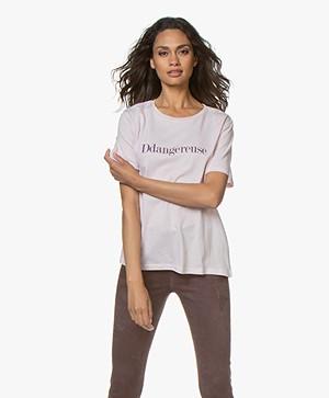 Vanessa Bruno Katoenen Ddangereuse T-shirt - Rose Poudre