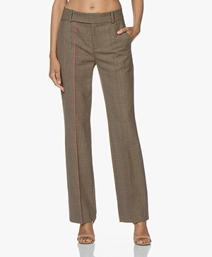 Drykorn Count Loose-Fit Checkered Pants - Brown