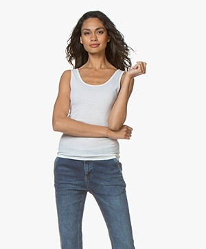 Filippa K Fine Rib Tank Top - Off-white