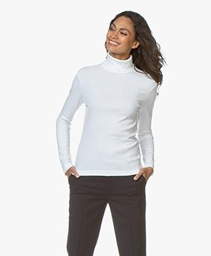 Petit Bateau Cotton Turtleneck Long Sleeve - White