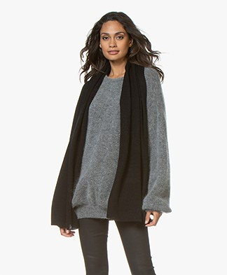 Repeat Cashmere Scarf - Black