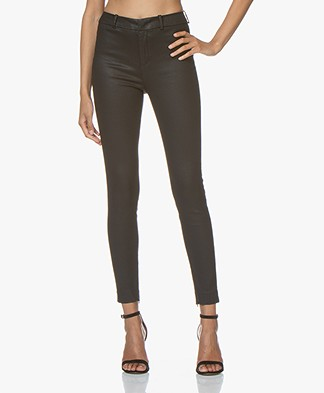 Drykorn Winch Skinny Pantalon met Coating - Black