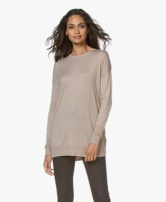 Filippa K Silky Fine Knit Sweater - Licht Taupe