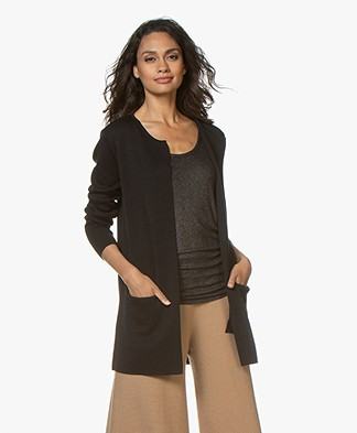 Sibin/Linnebjerg Vera Half Long Open Cardigan - Black