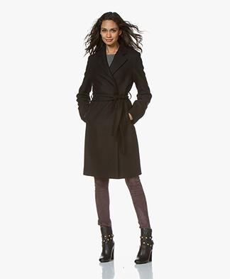 Filippa K Eden Belted Coat - Black