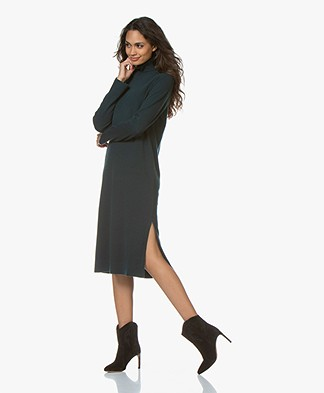 Repeat Pure Cashmere Turtleneck Dress - Algae