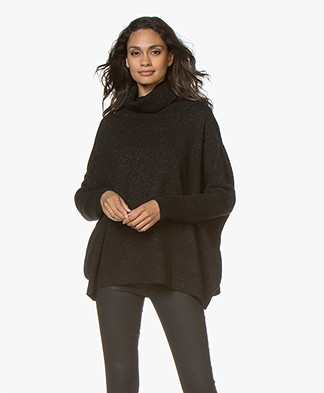 Sibin/Linnebjerg Tallulah Lurex Turtleneck Sweater - Black