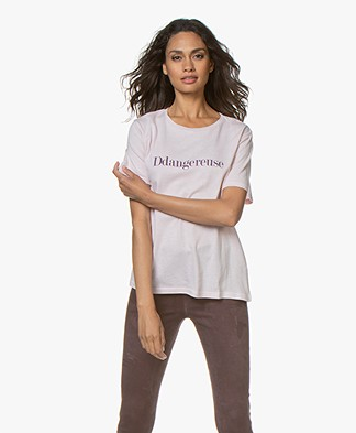 Vanessa Bruno Cotton Ddivine T-shirt - Rose Poudre