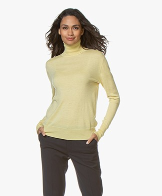 Filippa K Silk Mix Roller Neck Trui - Wax