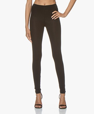 Majestic Filatures Soft Touch Jersey Leggings - Black