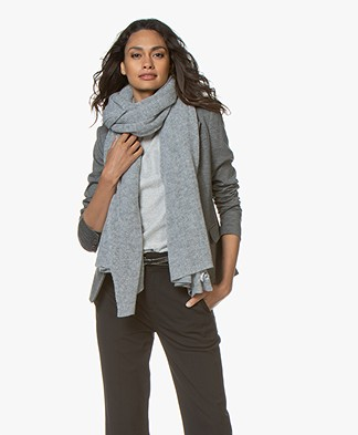 Repeat Cashmere Scarf - Light Grey