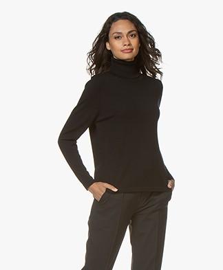 Sibin/Linnebjerg Lisa Turtleneck Sweater in Merino Wool - Black