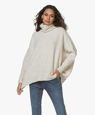 Sibin/Linnebjerg Tallulah Lurex Turtleneck Sweater - Sand