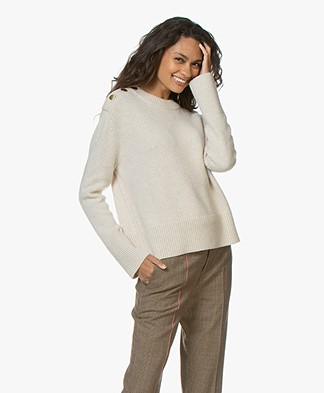 Vanessa Bruno Miro Sweater with Buttoning - Ecru