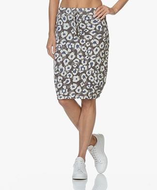 Kyra & Ko Charissa Leopard Balloon Skirt - Grey