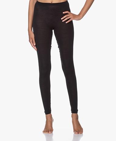 HANRO Wool-silk Blend Leggings - Black