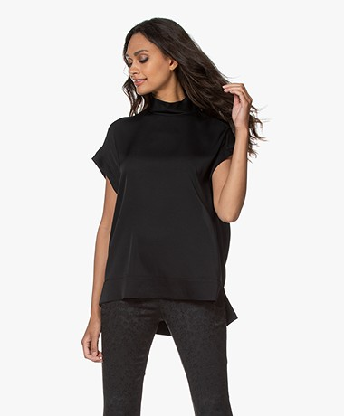 By Malene Birger Candillon Silk Blouse Top - Black