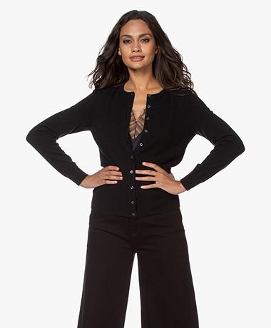 Repeat Cashmere Fine Knit Cardigan - Black