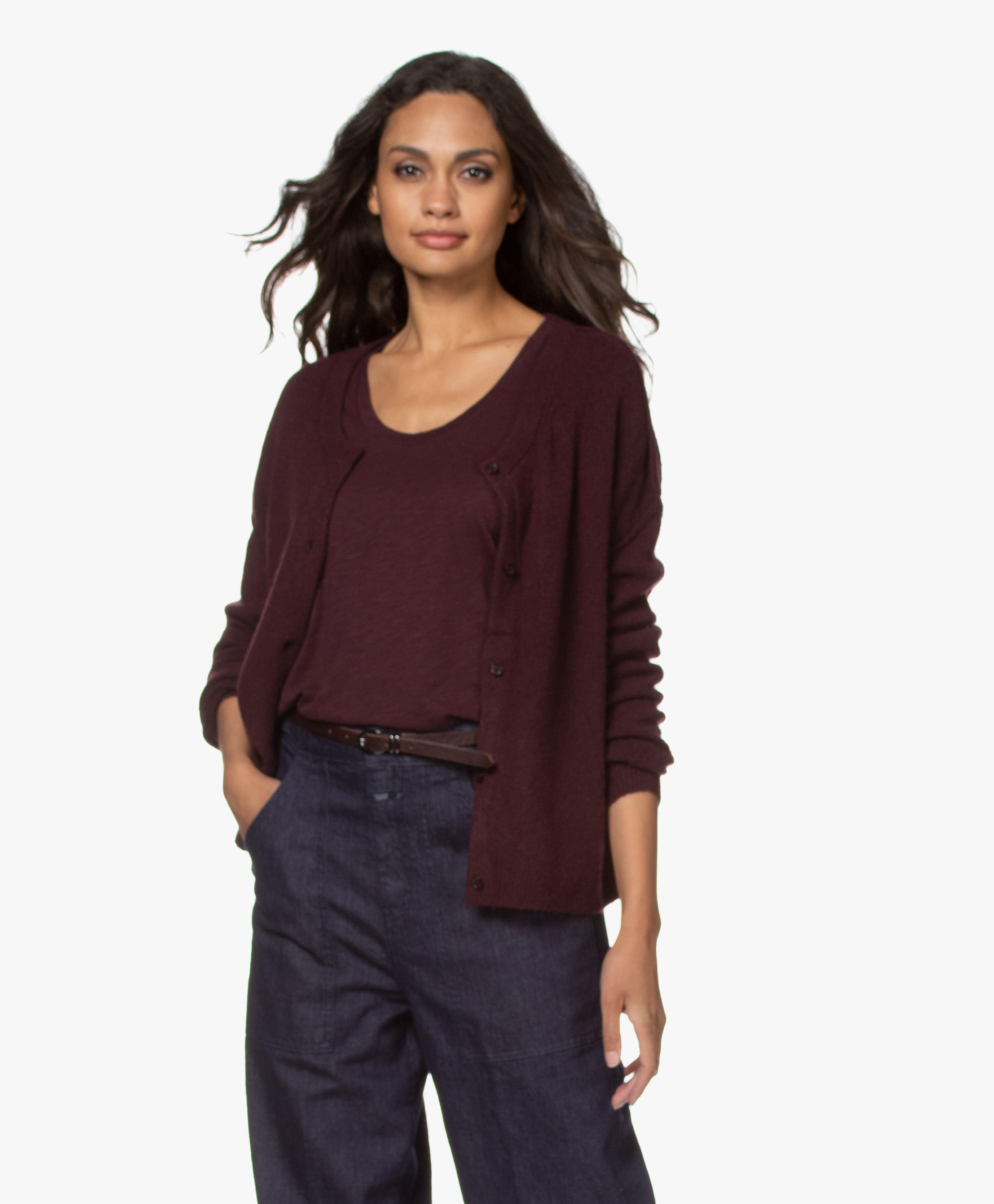 American Vintage sweater DAM225 – Griotte