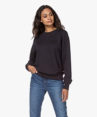 Filippa K Soft Sport Lyocell Mix Sweatshirt - Night Blue