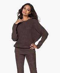 Sibin/Linnebjerg Joy Merino Blend Sweater - Brown