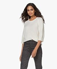 Sibin/Linnebjerg Rosie Mohair Blend Sweater - Off-white