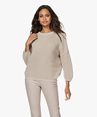by-bar Milou O Ribbed Cotton Sweater - Sand Stone