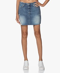 FRAME Le Mini Skirt Raw Edge Denim Rok  - Whitmore Soho