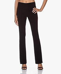 Norma Kamali Travel Jersey Boot Pant - Black