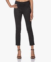 Rag & Bone Simone Jacquard Slim-fit Pants - Black