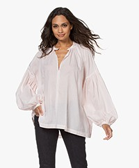 Closed Lia Oversized Seersucker Blouse - Rose Quartz