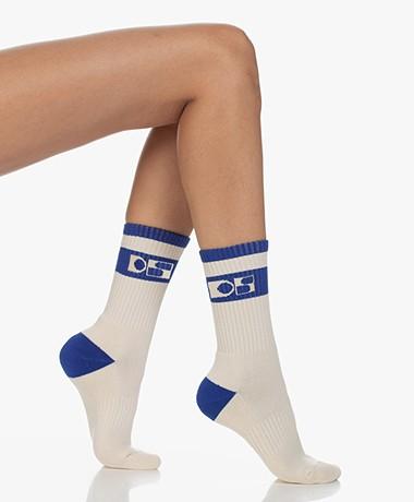 Dolly Sports Jackie Retro Logo Sokken - Kobalt