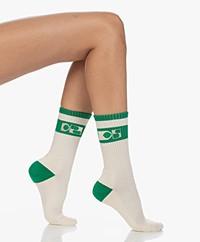 Dolly Sports Jackie Retro Logo Sokken - Groen