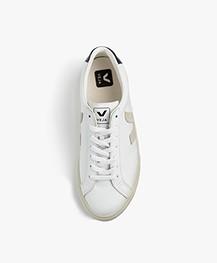VEJA Esplar Low Logo Leren Sneakers - Wit/Natural/Nautico
