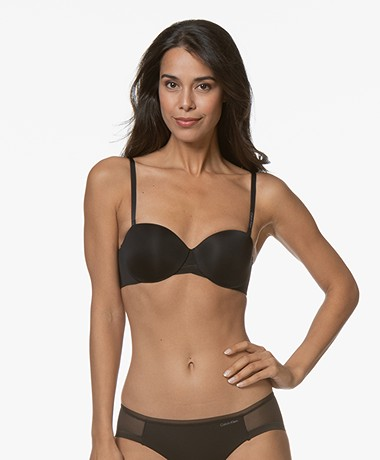 Calvin Klein Sculpted Lightly Lined Strapless Bra - Black