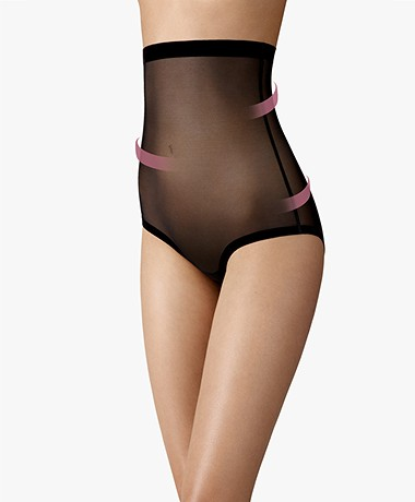 Wolford Tulle Control Panty High Waist - Zwart